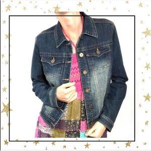 JOU JOU Denim jeans Cotton Jacket Women's Large